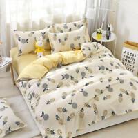 Cartoon Pineapple Print Bedding Set Duvet Cover Comforter Cover Pillow Case