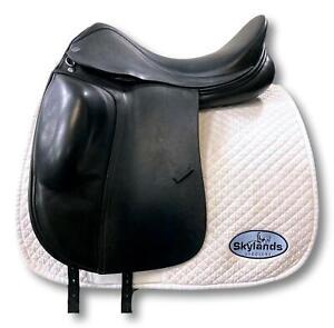 """Used Verhan Oddysey - Size 18"""" Dressage Saddle Black"""