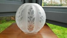 Original Victorian Superb Wheel Cut Ribbed Glass Oil Lamp Shade 4 inch fitter A1