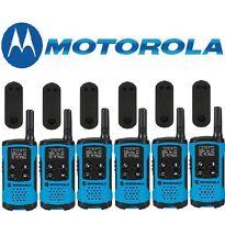 Motorola Talkabout T100TP Walkie Talkie 6 Pack Set 16 Mile Two Way Blue Radios