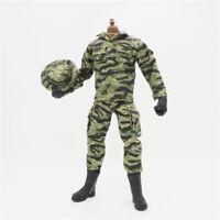 1/6 Scale Uniforms Coveralls Suit Jacket Tiger camo+Cap hat B005 Action Figure