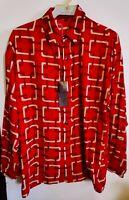 NEW Men's Creme De Silk 100%Silk Soft Shirt (RED )