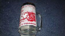 "1972 CANADA CUP GLASS STEIN 6"" TALL 1972 SUMMIT SERIES CANADA CUP GOLD RIM NHL"