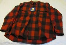 NOS Pendleton Washable Wool Shirt Outdoorsman Vtg Buffalo Plaid Red/blk Mens L