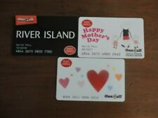 3 RARE POST OFFICE ONE4ALL GIFT CARDS .USED. NO VALUE. COLLECTORS ITEM.  LOT 8