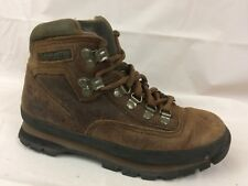 Timberland Womens 6 Med Brown Lace Up Hiking Work Trail Ankle Boot Shoes Leather