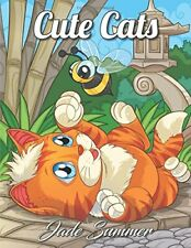 Adult Coloring Book (Cats) by Jade Summer (Paperback -Large Print,July 19,2018)b