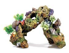 groß Lava Stein Korallenriff & Pflanzen mit Luft Aquarium Ornament Aquarium Deko