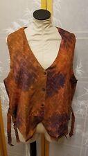 NWT Meng Designs Rayon Batik Top One Size Vest Copper Color AWESOME