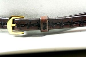 """HAT BAND NEW WESTERN COWBOY BARBWIRE  1/2X28"""" HANDMADE ENGLISH BRIDLE LEATHER"""