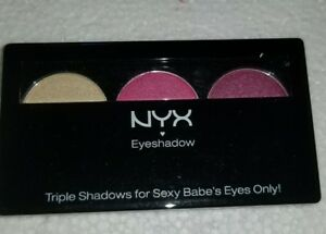 3 Nyx  trio eyesshad  Bronze red bean ts25
