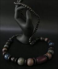 Joya Collar cadena de madera Negro Violeta 90cm #137