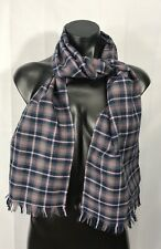Fashion Style Womens Pink Gray Check Plaid Scarf Shawl Stole Wrap Fringe Ends