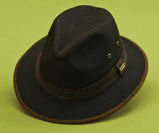 STETSON * MENS BROWN FEDORA HAT * 1 XL * NEW SUN SHADY SAFARI RAIN GOLF FISHING