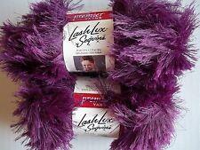 Premier Lash Lux Sequins eyelash yarn, Jewel (purple) , lot of 2 (34 yds ea)