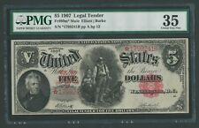FR89m* $5 1907 L.T  MULE STAR NOTE PROBABLY UNIQUE PMG 35 CHOICE VF WLM8500