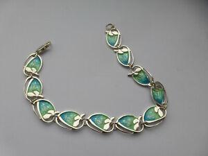 New PAT CHENEY Scotland silver enamel art nouveau Chenevive Bracelet Rare