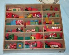 Vintage Christmas Tree Garland Wooden Ships Vehicles Wagons Toys Bloomingdales