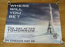 THE DAY AFTER TOMORROW ORIGINAL 2004 CINEMA UK QUAD FILM POSTER ROLLED EIFFEL