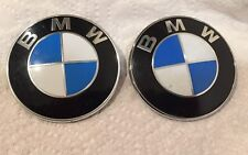 """LOT OF 2 BMW OEM FRONT HOOD AND TRUNK  LID 3""""1/4 """" DIAMETER  EMBLEMS"""