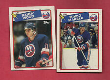 1988-89 TOPPS ISLANDERS WOOD + MAKELA   ROOKIE CARD