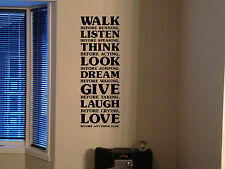 Inspirational Decal Walk Before Running Quotes Decal Stickers RN