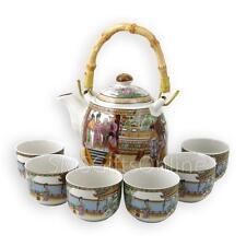Boxed Tea for 6 A Dream of Red Mansions Design Porcelain Infuser Teapot Set
