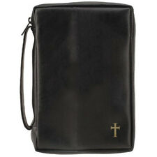 Embossed Cross Vinyl Bible Cover - XL