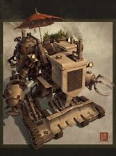 Harvester Chinese Steampunk Print by James Ng