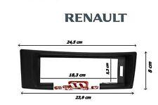 RENAULT Megane Scenic bis 12/2003 Auto Radio Einbau Blende/Rahmen GRAU