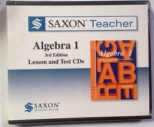 Saxon Math Teacher Algebra 1 Lesson & Test CD-roms for Teachers 3rd Edition NEW!