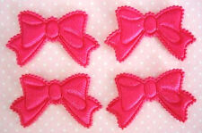 60 Padded Satin Cute Ribbon Bow Motif Applique/trim/Sew *US Seller H422-Hot Pink