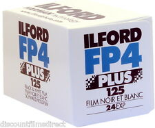 10 x ILFORD FP4 125 35mm 24exp CHEAP BLACK & WHITE FILM by 1st CLASS POST
