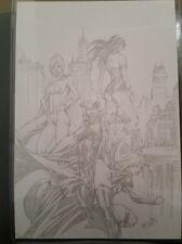 DC Comics RAVEN POWER GIRL SUPERGIRL WONDER WOMAN Original Art Teen Titans TV CW