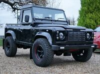 Land Rover Defender Td5 2003 Pickup Santorini Black.