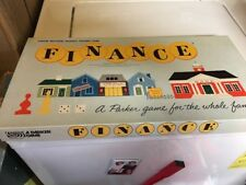 FINANCE BOARD GAME BY PARKER BROTHERS 1958 EDITION VINTAGE COMPLETE, VERY GOOD