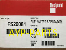(Case Of 6) Fs20081 Fleetguard Fuel Filter for Freightliner M2 w/ Detroit Diesel