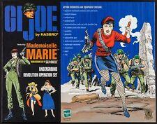 GI JOE MADEMOISELLE MARIE HASBRO BOX SET MINT 1999 JOE KUBERT Art