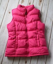 Old Navy Vest Girl XL 14 Puff Puffer PLAY Condition Fleece Lined Zip Frost Free