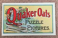 ANTIQUE 1900 QUAKER OATS PUZZLE PICTURES BOOKLET – COMPLETE AND UNCUT! EXCELLENT