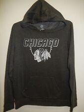 0310 Mens Majestic CHICAGO BLACKHAWKS Hooded Hoodie Jersey SWEATSHIRT Gray