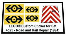 Lego® Custom Sticker for Train 9V set 4525 - Road and Rail Repair (1994)