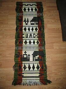 "Vintage ECUADOR Hanging WALL TAPESTRY String Weaving 41"" x 14 3/4"""