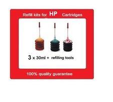Refill kits for HP63 & 63XL colour ink cartridges For HP OJ3830,Deskjet 3630