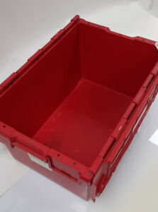 Crate Storage Mixed Red and Blue Boxes Stacking Bins Warehouse Organising X30