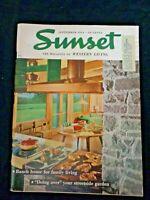 Sunset Magazine Sept 1954 Coronado Trail Lassen Venison Moose Elk Bear Game Meat