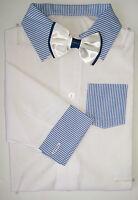 Baby Boy White Smart Shirt Style Formal  Bodysuit Body Shirt Long Sleeve 0-24m