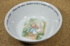 """""""Mrs. Rabbit"""" Wedgewood Child's Cereal Bowl"""