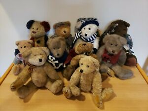 Boyds Bears Lot Of 10 Investment Collectavles Archive Collection