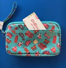 BNWT Cath Kidston London Stamps Gadget Case/ Cosmetics /Money Purse+CK Gift Bag
